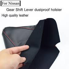Auto Gear Shift Collars Cover PU <b>Leather Gear Shift Stick</b> Lever ...