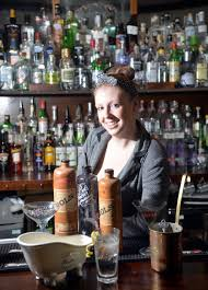 drink of a bygone age is making a very spirited comeback at the bar manager laura stephens old original bottles of gin from holland in the gin