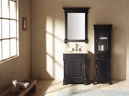 rustic interior home bathroom decoration ideas equipped traditional brown wooden vanity with attractive single sink under brown bathroom furniture