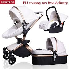 Babyfond <b>baby stroller 3 in</b> 1 baby strollers leather two way ...