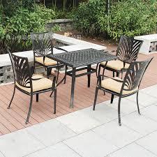 cast aluminum rectangular table combination five piece outdoor furniture balcony outdoor furniture garden patio balcony outdoor furniture
