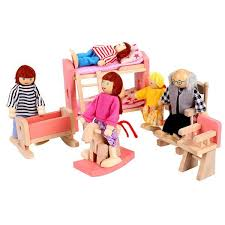 free shipping arshiner wooden dolls house furniture miniature kid room bedroom toys girls room model building cheap wooden dollhouse furniture