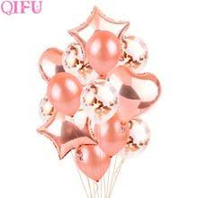 <b>QIFU</b> Rose Gold Foil <b>Balloons</b> Air Wedding Ballon <b>Helium Balloon</b> ...