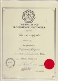 my society of professional engineers register certificate