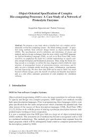 object oriented specification of complex bio computing processes inside
