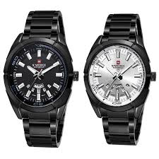 NAVIFORCE 9038 watch Luxury Water Resistant Steel Quartz <b>Clock</b> ...