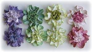 <b>DIY</b> ~ <b>Flower Tutorial</b> ~ <b>Making</b> Water Distressed <b>Cardstock</b> Blooms ...