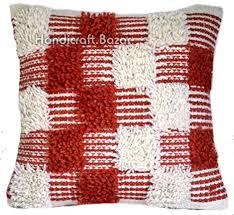 Handicraft Bazarr Vintage <b>Shaggy Cushion</b> Cover <b>2 Pcs</b> Set, Hand ...