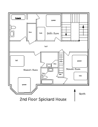 FLOOR PLANS  amp  BED CONFIGURATIONS at Henderson House Bed and     nd floor   Spickard House