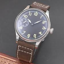 <b>44mm Parnis black Dial</b> Luminous hands hand winding mechanical ...