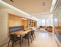 storage bench dining dining room modern with recessed lighting blonde wood blonde wood blonde wood office