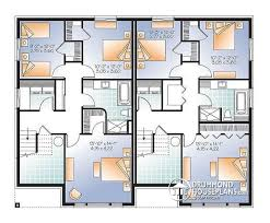 Multi family plan W detail from DrummondHousePlans com    Basement Semi detached bedroom contemporary   walk in pantry   The Arborlea
