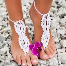 Crocheted <b>Infinity Barefoot Sandal</b> Knitted <b>Foot Jewelry</b> Handmade ...