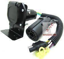 7 pin trailer plug 4 flat to 7 way rv trailer light plug wire harness 7 way trailer plug