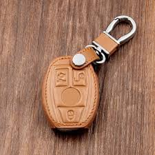 4 buttons leather car key cover case accessories for scher khan magicar 5 lcd remote only scher khan m5