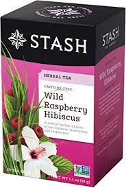 Stash <b>Tea Wild Raspberry</b> Hibiscus Caffeine Free 20 <b>Tea</b> Bags ...