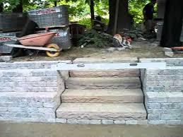 patio stone seating wall pillars unilock brussels dimensional seat walls pillars amp planters