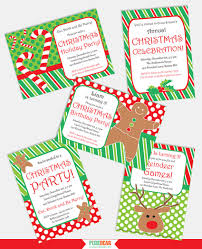 christmas party party printables to create the cheerful atmosphere of christmas you can use invitations christmas images in a red and green palette fun characters of reindeer