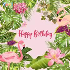 <b>Yeele Tropical Photocall</b> Flamingo Flowers Party Birthday ...