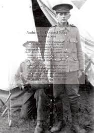 recruiting by e a mackintosh great war literature anthem for doomed youth by wilfred owen