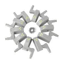 <b>10Pcs Led Smart Touch</b> Inductie Kast Licht Kast Innerlijke Scharnier ...