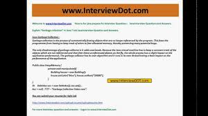 explain java garbage collection job interview question and answer explain java garbage collection job interview question and answer