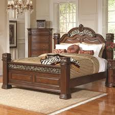 wood bed for charming bedroom bizezz furniture wooden frame with carved headboard and footboard brown striped charming bedroom furniture