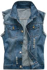MORETIME Denim Vest Top, <b>Spring and Autumn Men's</b> Fashion ...