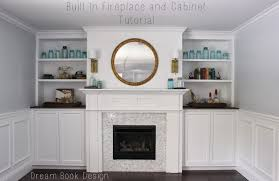 built in fireplace and cabinets tutorial dream book design build living room built ins