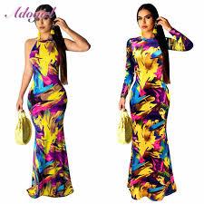 Women Plus size <b>S 5XL Floral Print</b> Beach Party Maxi Dress Casual ...