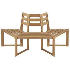vidaXL Solid Acacia <b>Wood Tree Bench</b> 160cm <b>Half Hexagonal</b> ...
