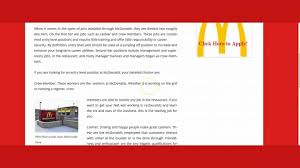 mcdonalds jobs mcdonalds jobs