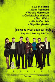trailer for in bruges director s dognapping comedy seven seven psychopaths poster