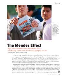 the mendez effect high school students turn authors for book 587184 2015 page 1