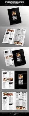 room manchester menu design mdog: bifold simple restaurant menu template design speisekarte download