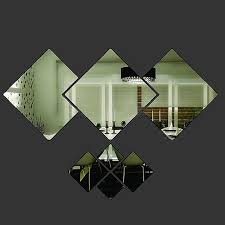 <b>7Pcs</b>/<b>set Mirror</b> Style Removable Decal Art Mural <b>Wall</b> Sticker Home ...