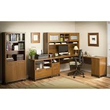 bush office connect achieve l shaped desk with hutch and lateral file sweet cherry desks at hayneedle bush desk hutch office