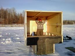 Home Built Ice Hut   can I see your designs