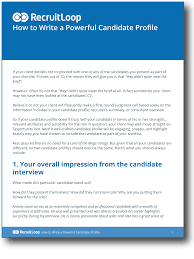 10 simple steps to writing a powerful candidate profile how to write a powerful candidate profile