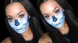 diy half sugar skull makeup tutorial outfit ideas last minute costume ideas