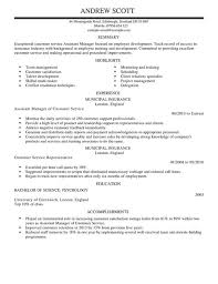 assistant manager cv example for customer service   livecareer