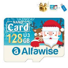 <b>Alfawise Christmas Fun Edition</b> Micro SD TF Card 3 In 1 128GB ...