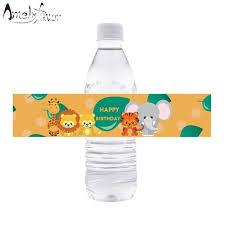 <b>Safari</b> Animal Water Bottle Labels <b>Jungle</b> Animal Water Bottle ...