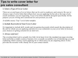 pre  s consultant cover letter      tips to write cover letter for pre  s