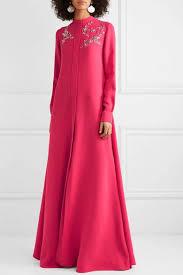 <b>Carolina Herrera</b>   <b>Crystal</b>-embellished silk-georgette gown   NET-A ...
