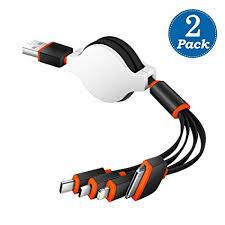 KINGBACK Multi USB Charging Cable 2 Pack ... - Amazon.com