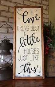 wood sign glass decor wooden kitchen wall: love grows best in little houses just like this wood sign framed sign