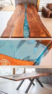 Дизайнерский <b>стол</b> Река из слэбов дерева. Заливка Реки ...