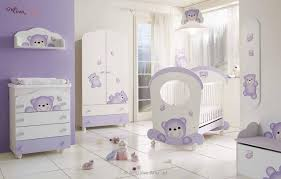 adorable nursery furniture in white accents for unisex babies funny purple white baby bedroom interior adorable nursery furniture