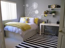 pictures simple bedroom: simple bedroom decorations stripped area rug white furniture grey painted walls floral wallpaper full